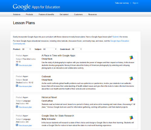 Lesson Plans – Google Apps for Education