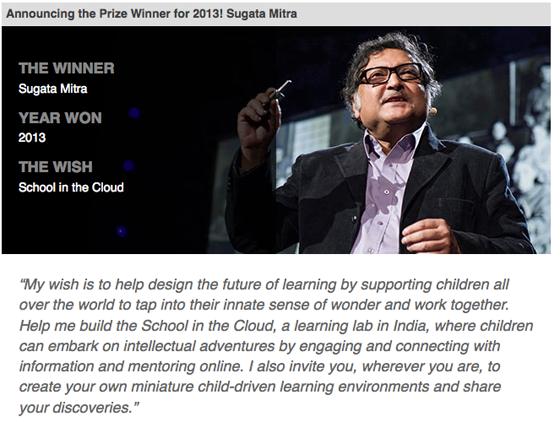 Una escuela en la nube, Sugata Mitra