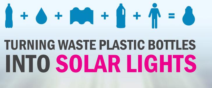 De botella de plástico a bombilla solar